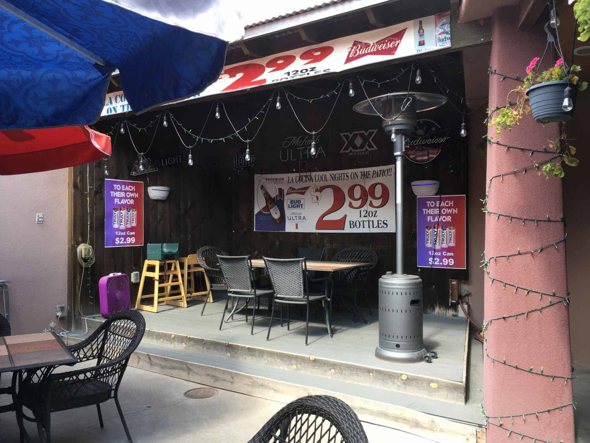 dine outdoors at La Cocina Hot Stuff mexican restaurant in Truth or Consequences