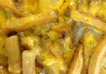 chile cheese fries at Old Brick Cafe