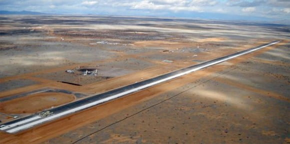 AP photo by Dick Woodsum of the Spaceport America Runway