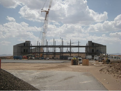 Spaceport Terminal Hangar under construction, 2010