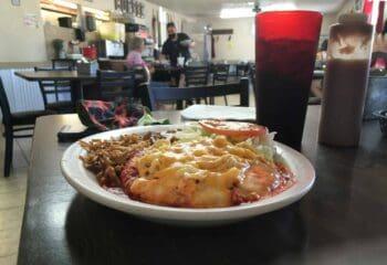 chicken enchiladas at the arrey cafe