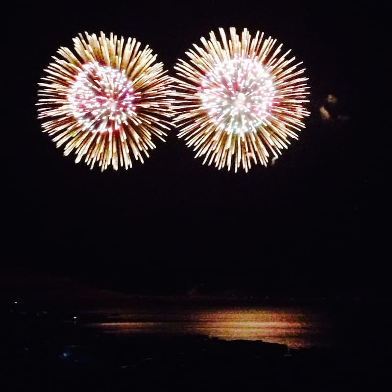 Independence Day fireworks at Elephant Butte Lake