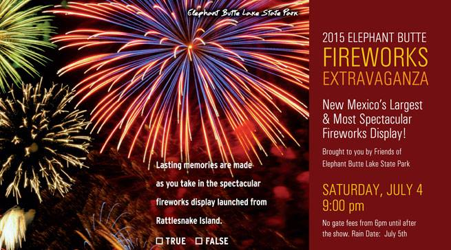 Elephant Butte July 4 Fireworks Show 2015