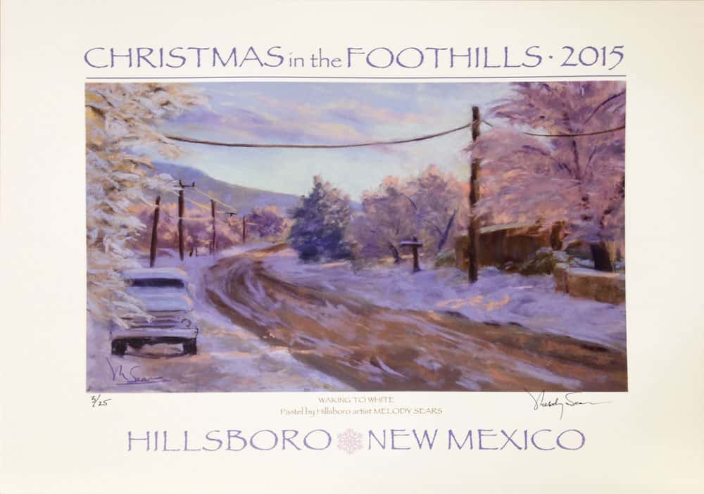 Christmas in the Foothills poster from 2015