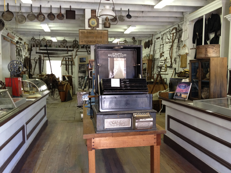 antique cash register, Pioneer Store Museum