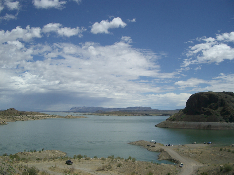 view from Elephant Butte Dam