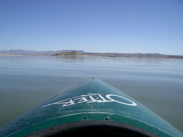 Kayaking on Elephant Butte Lake