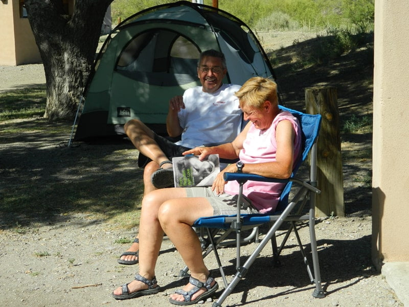 Camping at Elephant Butte Lake, near the Dam Site
