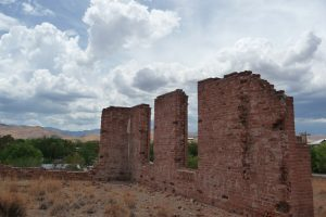 Ruins of the former County Courthouse, Hillsboro