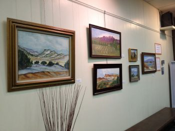Art exhibit by Annie Spitler at the Geronimo Springs Museum