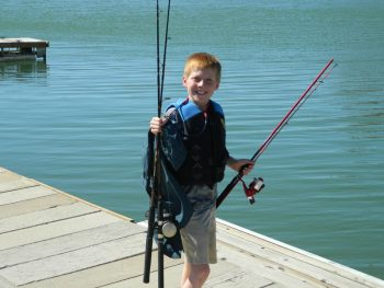 ready to fish at Elephant Butte Lake's Marina del Sur