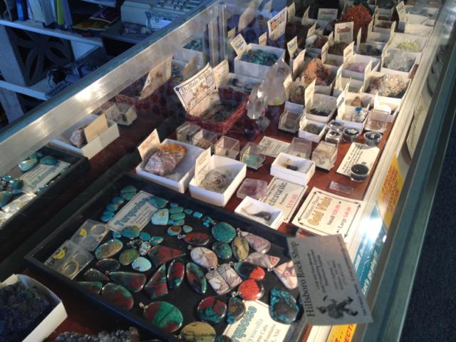 Rock Shop specimens in Hillsboro