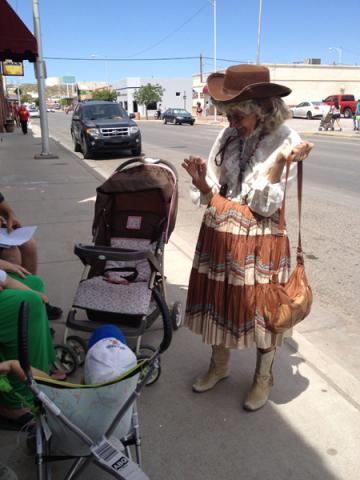 Cowgirl on the street, 2012 Fiesta