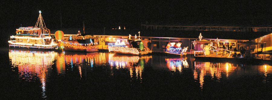 Parade of Lights, part of the Luminaria Beach Walk held annually at Elephant Butte