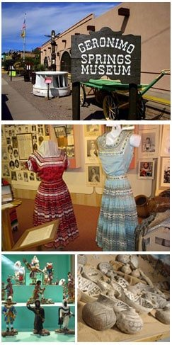 exhibits at the Geronimo Springs Museum
