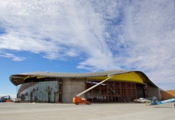 Spaceport's Terminal Hangar Looking Good!