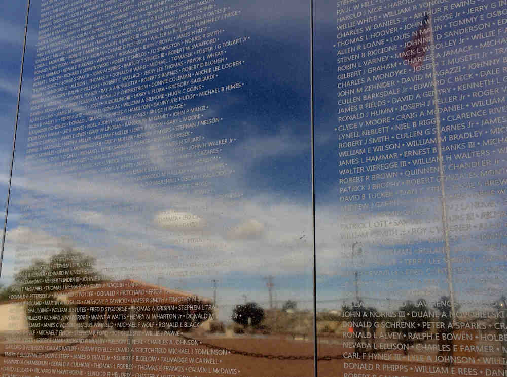 The Wall at Veterans Memorial Park in Truth or Consequences NM