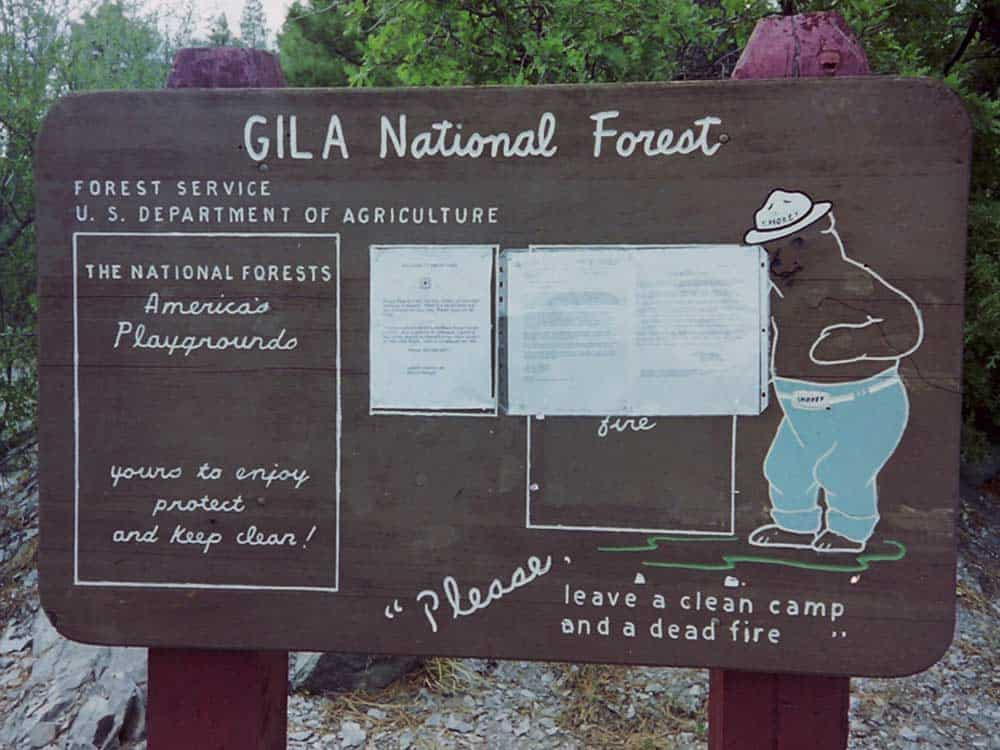 Gila National Forest sign