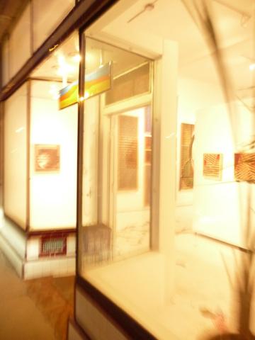 Olin West artwork in a gallery on Broadway