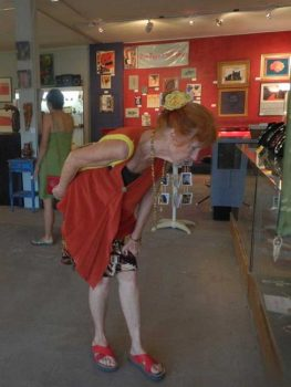 Shopper at Rio Bravo Gallery's Gift Shop