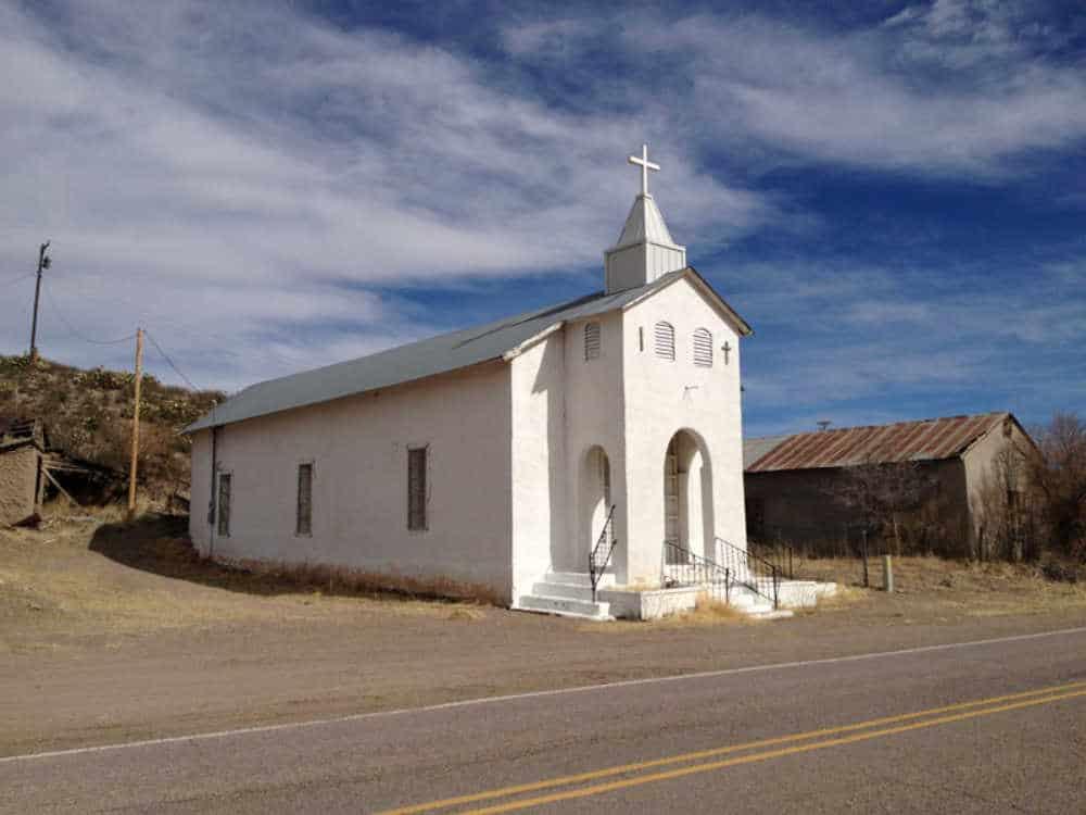 the church in Cuchillo NM