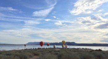 hot air balloons at Elephant Butte Lake State Park
