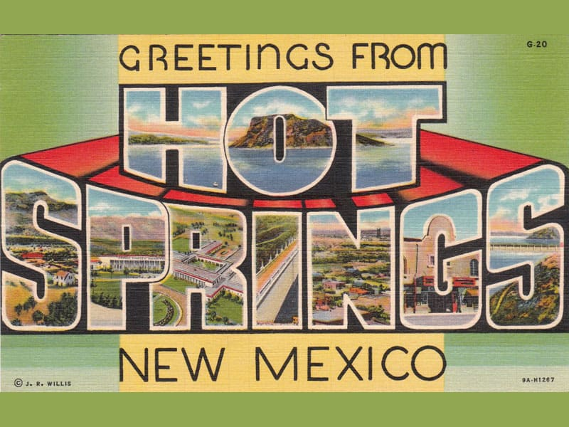 Hot Springs New Mexico: vintage postcard