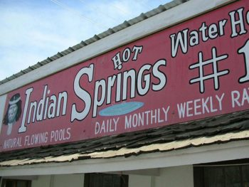 Indian Springs - hot mineral baths in Truth or Consequences NM