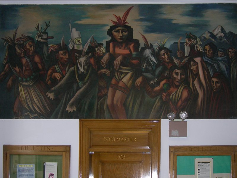 WPA-era Post Office mural by Boris Deutsch