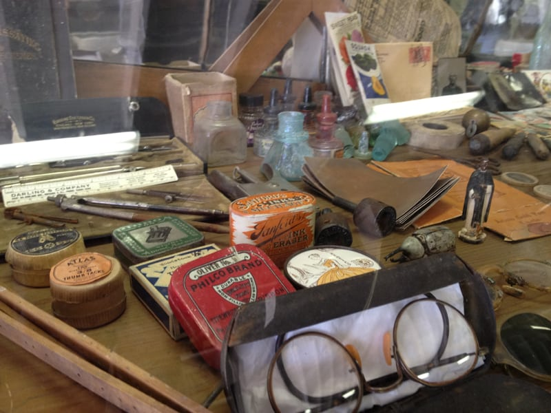 display case, Pioneer Store Museum