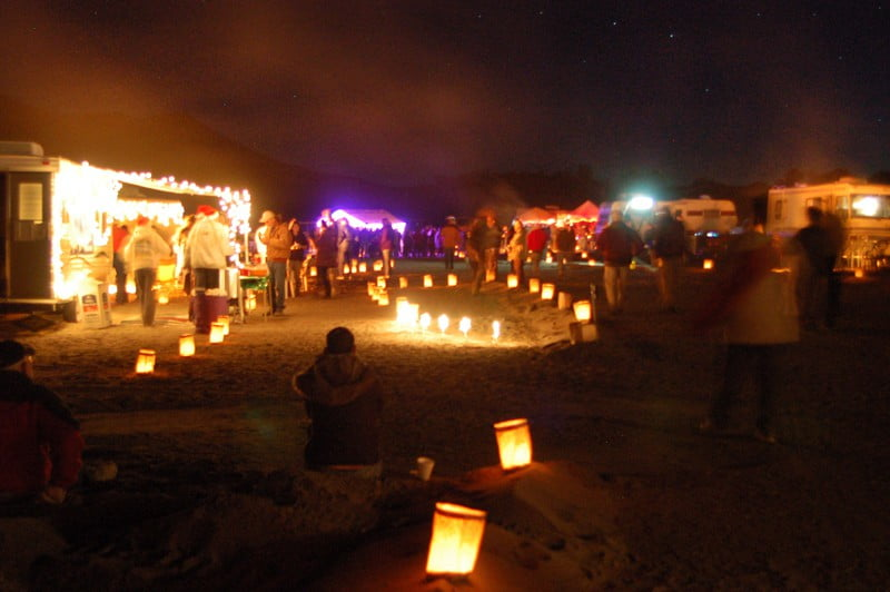 crowds at Elephant Butte Festival of Lights