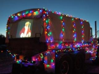 Santa on-screen