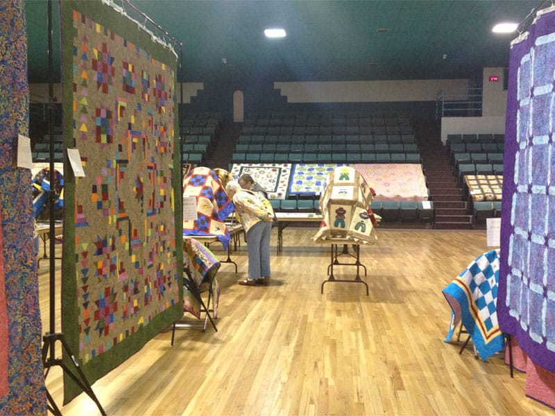 quilts and more quilts at the Annual Quilt Show in Truth or Consequences NM