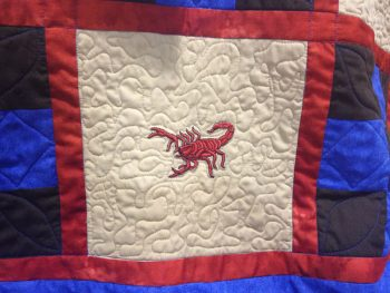 scorpion quilt