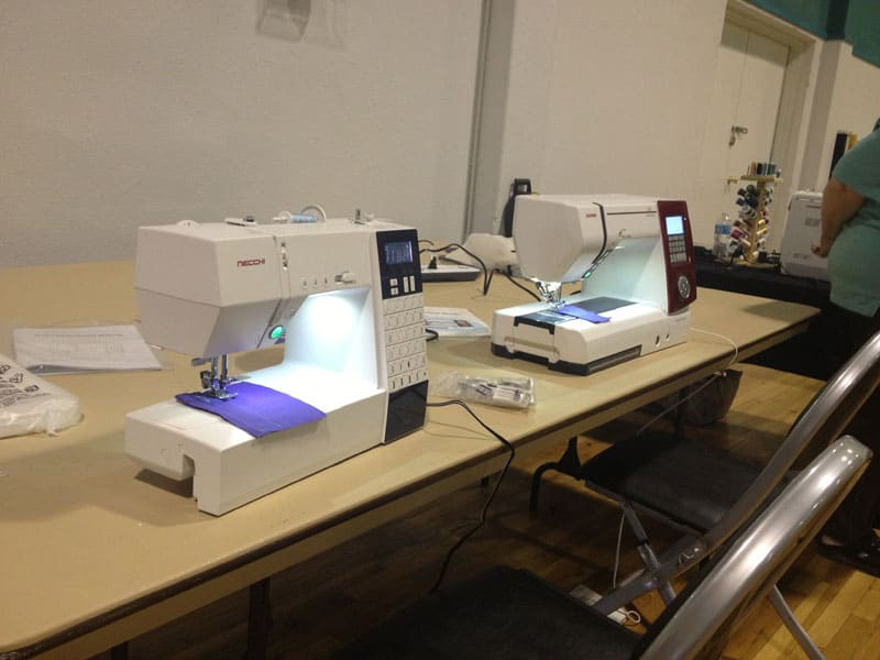 sewing machines at the Annual Gathering of Quilts