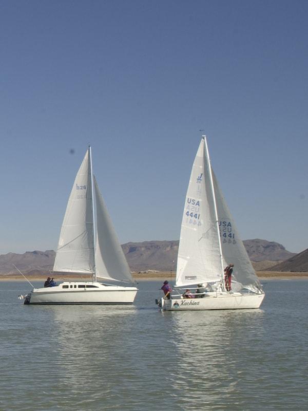 sailboats on Elephant Butte Lake