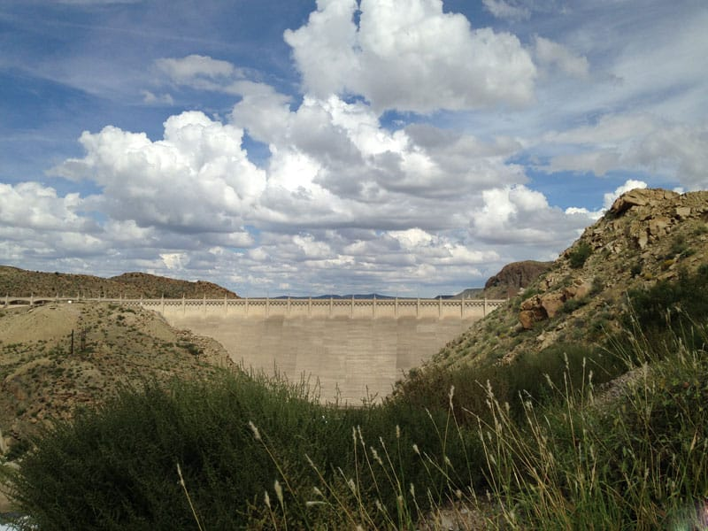 Elephant Butte Dam from the West