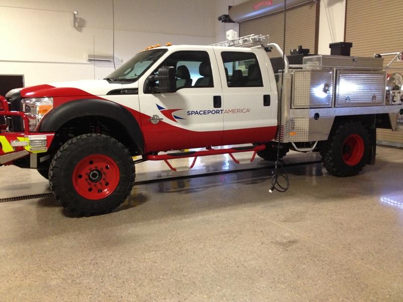 Fire Truck at Spaceport America