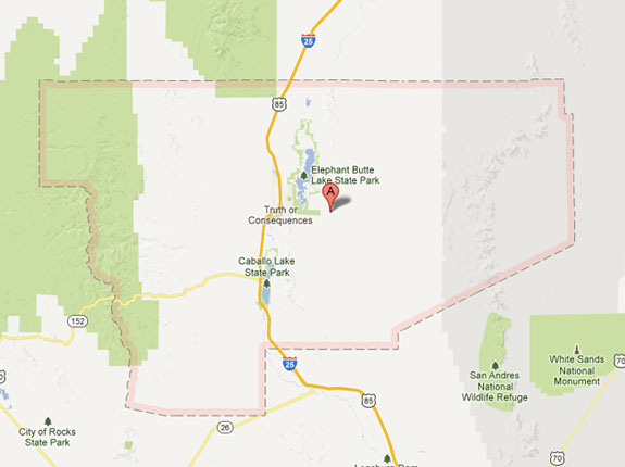 map of Sierra County New Mexico