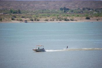 water skiing on Caballo Lake, 2013