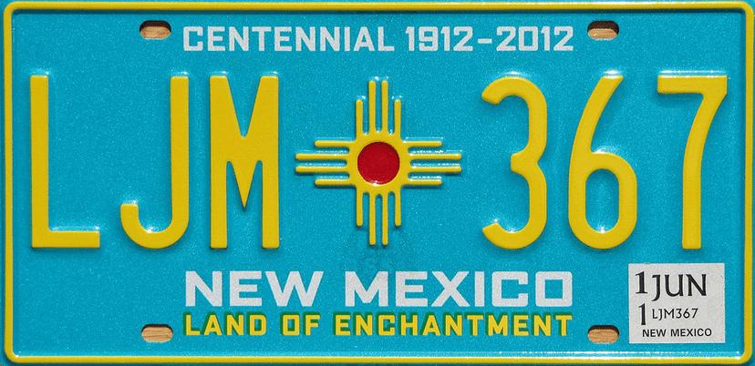 2012 centennial license plate