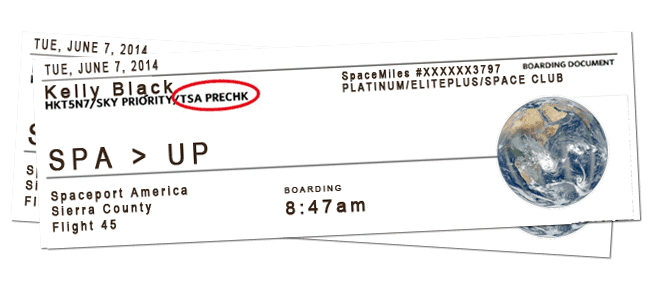 2 totally fake boarding passes for Space travel