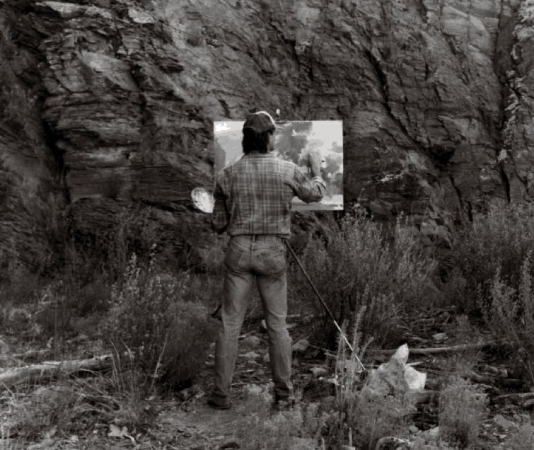 David Farrell plein air painting in Southern New Mexico