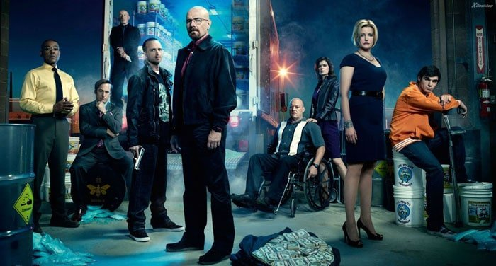 The cast of HBO's Breaking Bad