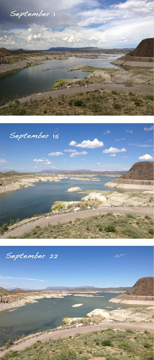 elephant butte lake levels following rains in September 2013