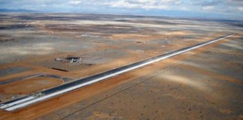 the spaceport america runway near Truth or Consequences NM