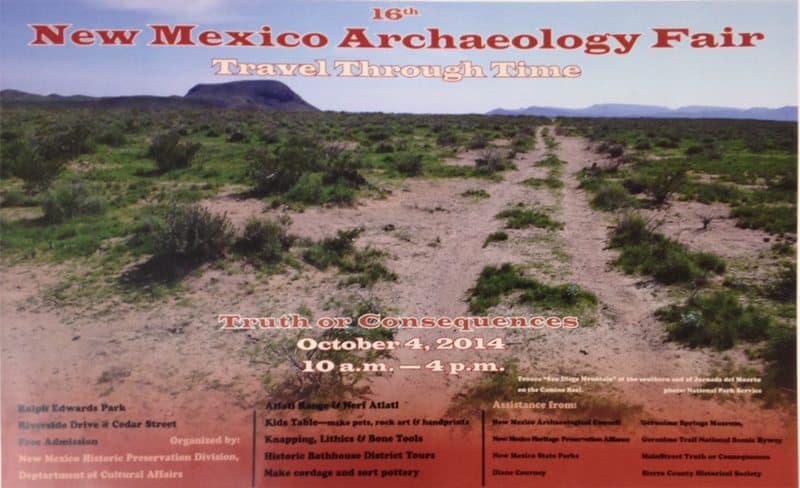 archaeological fair in Truth or Consequences