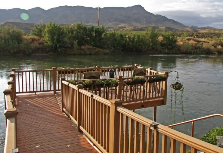 Riverbend Hot Springs deck