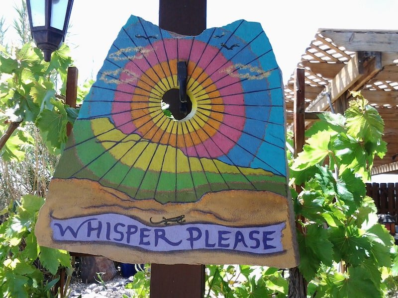 Whisper Please - sign at a hot spring spa in Truth or Consequences New Mexico