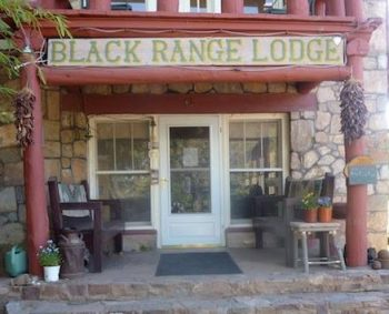 Black Range Lodge front porch